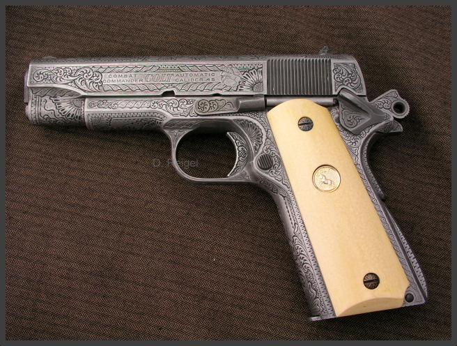 Engraved Colt Combat Commander .45