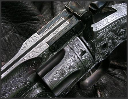 Engraved Model 3 Schofield, Reigel Gun Engraving