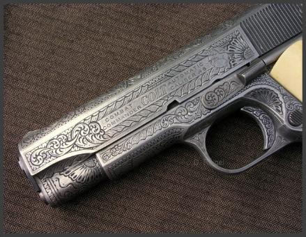 Engraved Colt 1911 Commander