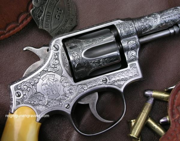 Engraved Smith & Wesson Model 1905 by reigelgunengraving.com