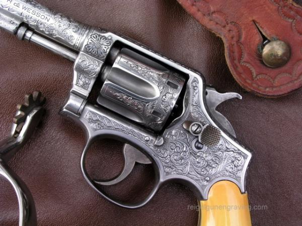 Engraved S&W Model 1905 by reigelgunengraving.com