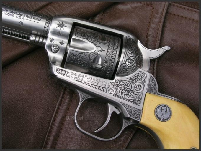 Engraved Ruger Single Six .32 H&R, Reigel Gun Engraving