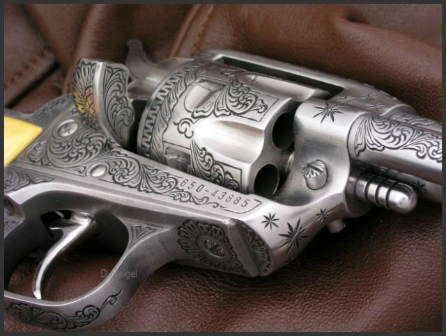 Engraved Ruger Single Six Revolver, Reigel Gun Engraving