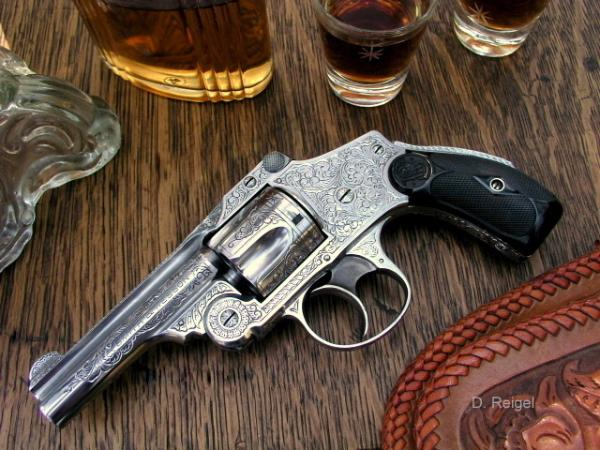 Smith and Wesson Safety Hammerless  38 Revolver