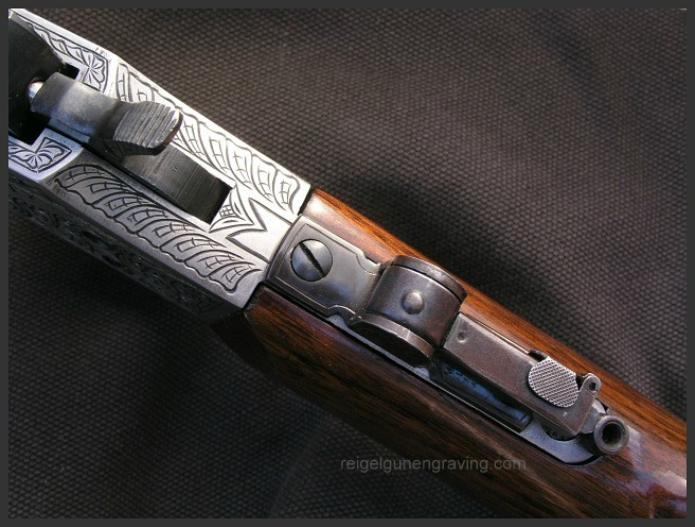 Engraved Stevens Favorite 1915, Reigel Gun Engraving